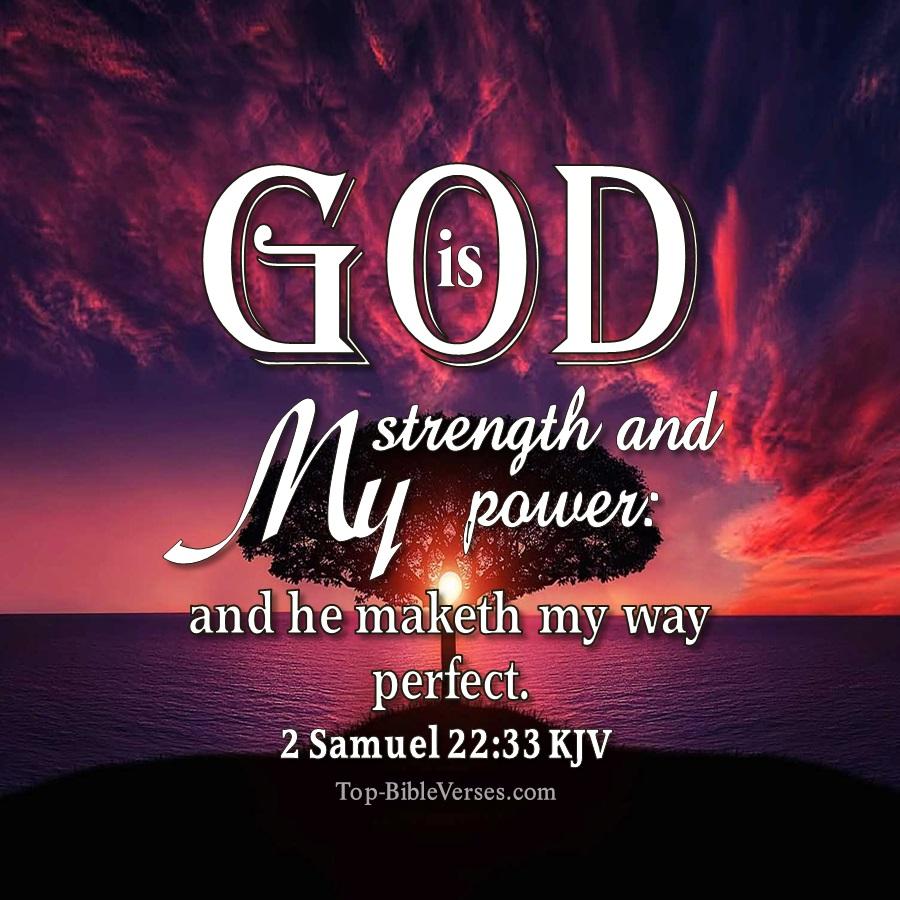 2 Samuel 22:33 Bible Verse Images | Bible Quotes DP Images